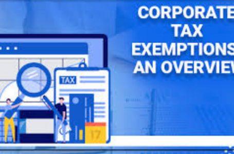 کارپوریٹ ٹیکس چھوٹ ایک جائزہ